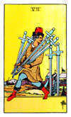 Tarot Minor Arcana card: Seven of Swords
