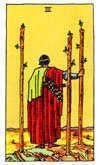 Tarot Minor Arcana card: Three of Wands