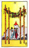 Tarot Minor Arcana card: Four of Wands