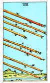 Tarot Minor Arcana card: Eight of Wands