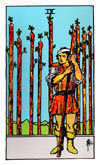 Tarot Minor Arcana card: Nine of Wands