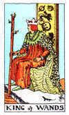 Tarot Minor Arcana card: King of Wands