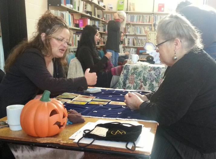 Working at the Samhain Pagan Fair Dunedin 2015