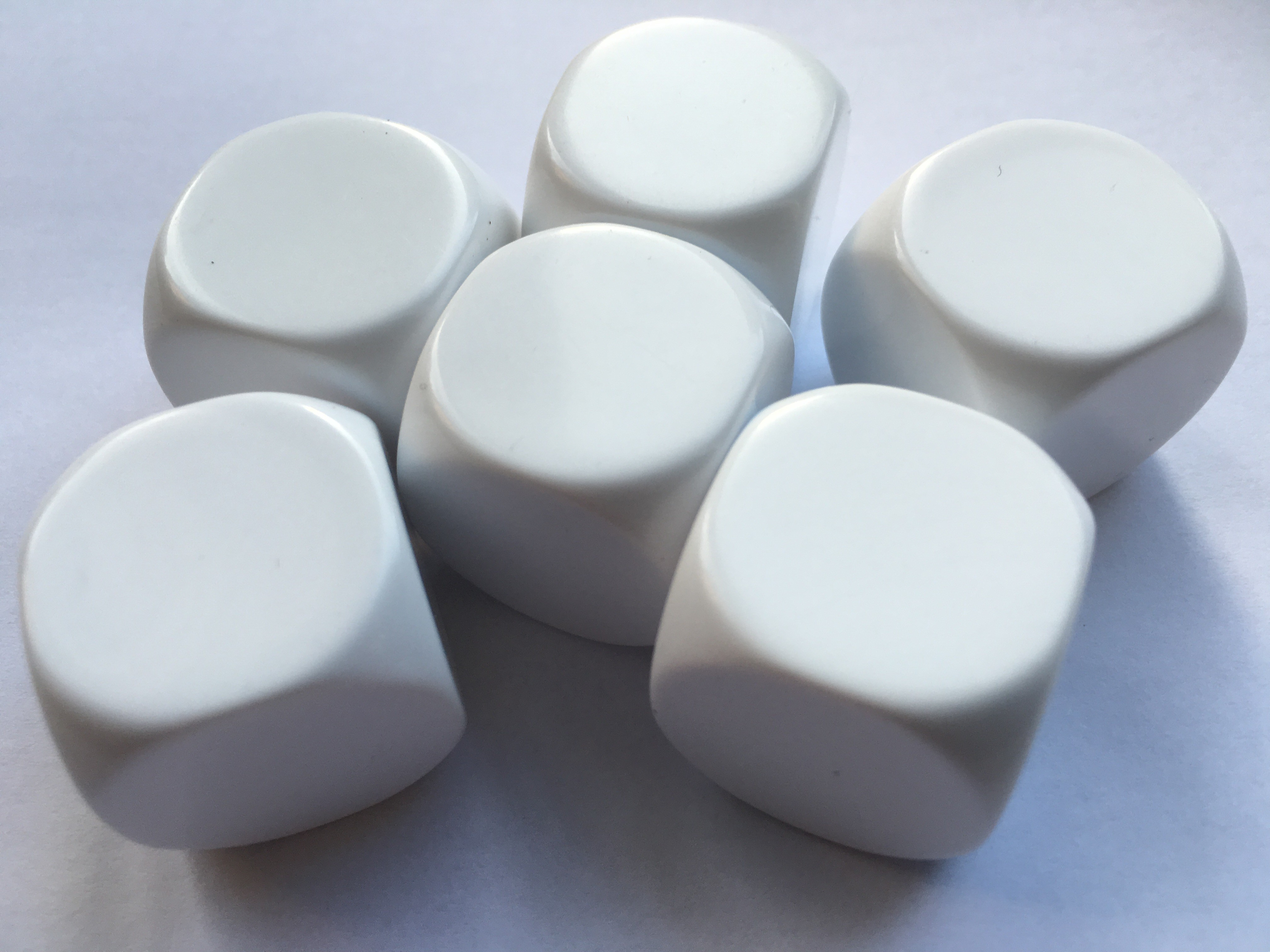 Large Blank White Dice