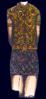 Galician king from San Juliao Celtic Hillfort, 3rd century BC.  Drawing by André Pena - www.andrepena.org