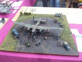 Diorama with plane