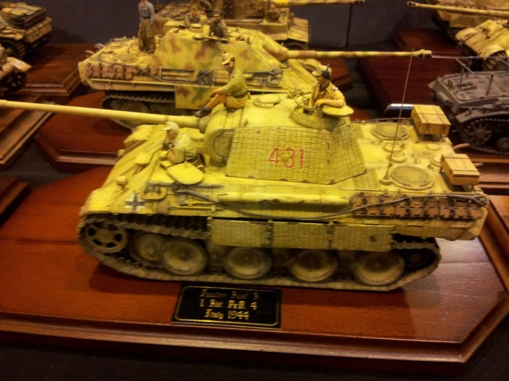 Wonderfully weathered and built model tank from Telford IPMS