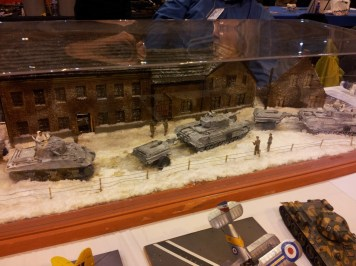 Winter tank diorama