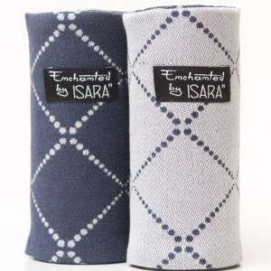 isara reversible teething pads diamonda blue ink Tartaruguita