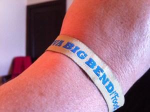 My VBBFF wristband.
