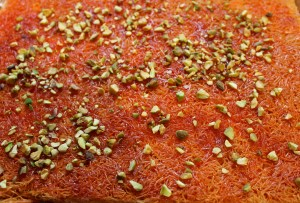 The finished Knafeh.