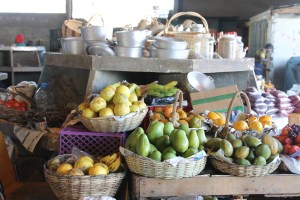 Some of the bounty at the Montego Bay market.