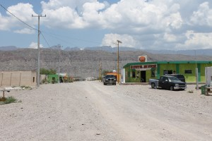 The main street in Boquillas