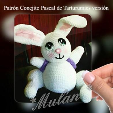 Patrón Conejito Pascal de Tarturumies versión Mulan de Kilmes