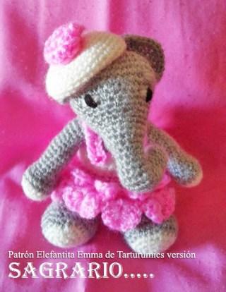 Patrón Elefantita Emma de Tarturumies versión Sagrario Contreras