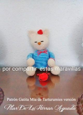 Patrón Gatita Mía de Tarturumies versión Pilar De La Herran Aguado