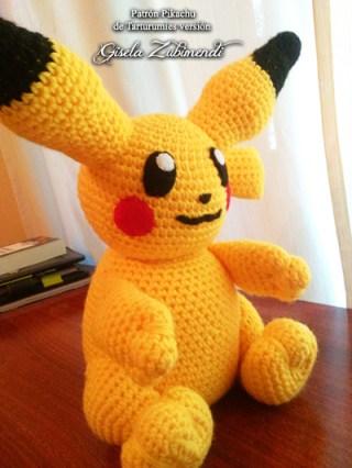 Patrón Pikachu de Tarturumies versión Gisela Zubimendi