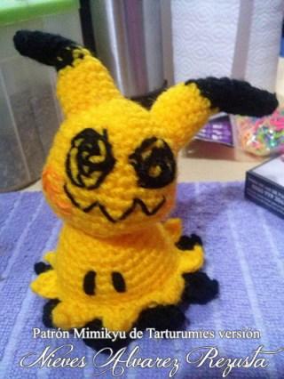 Patróm Pokémon Mimikyu de Tarturumies versión Nieves Alvarez Rezusta