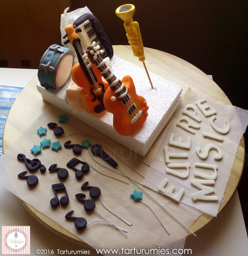 Step 2 - Cake Box of Musical Instruments