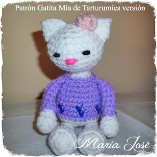 Patrón Gatita Mía de Tarturumies versión María José