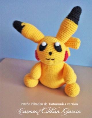 Patrón Pikachu de Tarturumies versión Carmen Esteban García