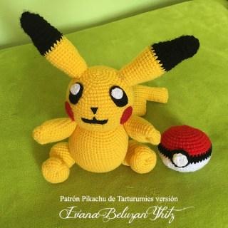 Patrón Pikachu de Tarturumies versión Ivana Beluzan Yhitz