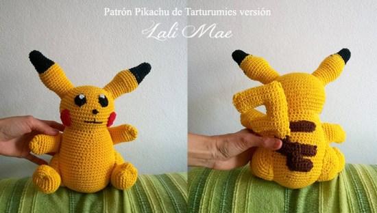 Patrón Pikachu de Tarturumies versión Lali Mae