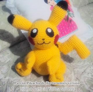 Patrón Pikachu de Tarturumies versión Liliana Patricia Yañez Solorza