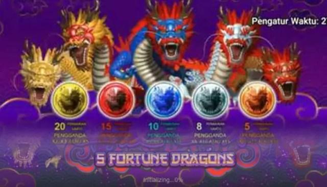 5 Fortune Dragon, Jenis Slot Menguntungkan!