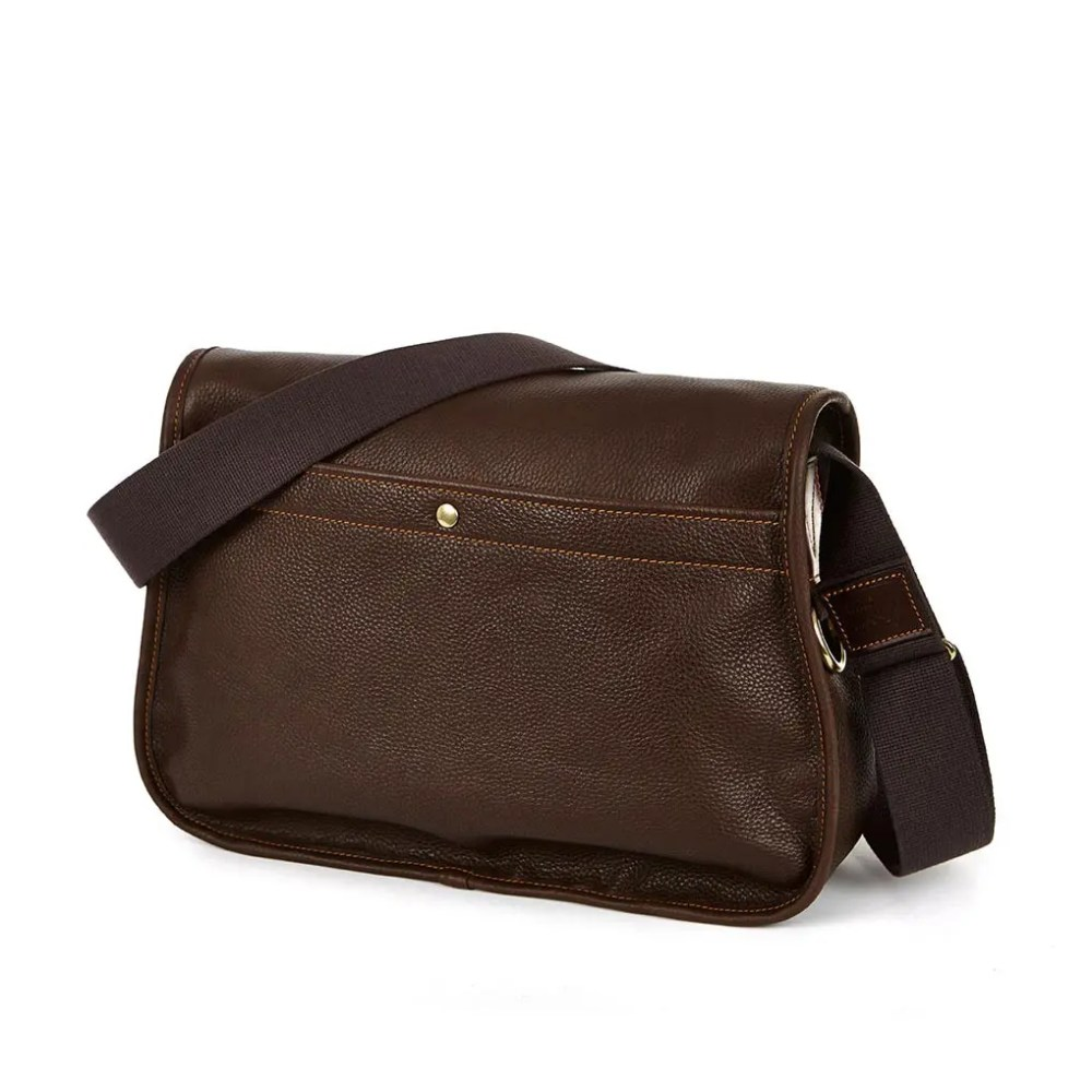 8F TRO CH Leather Trout Bag Chestnut BACK