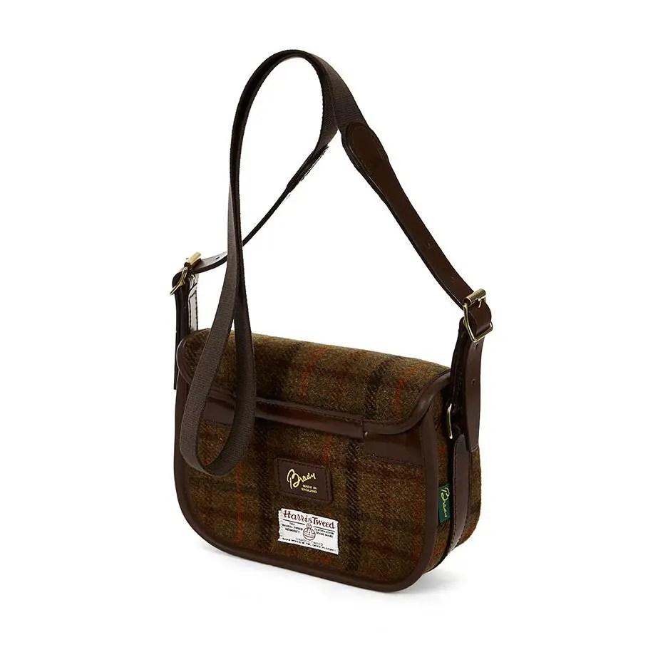 8R MOR Moorland Bag Tan Check Tweed BACK