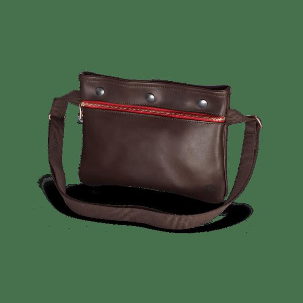 Vintage sacocht Leder Tasche von vorne