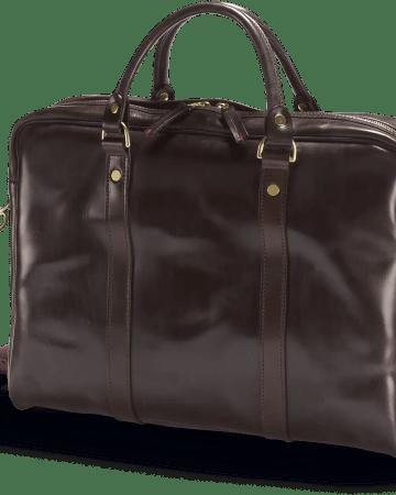Malton Laptop Tasche in Braun in der Fronalansicht