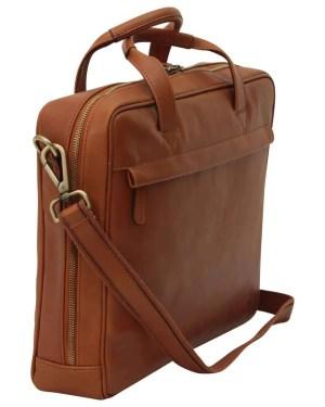 Leder Laptoptasche mit Reißverschluss