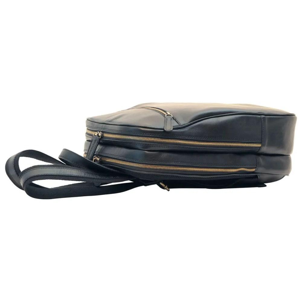 Liegend Lederrucksack 13 Zoll Laptop Black