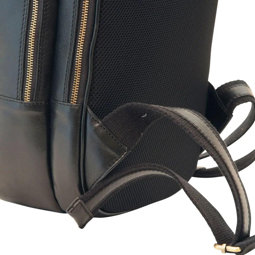 Nah Lederrucksack 13 Zoll Laptop Black