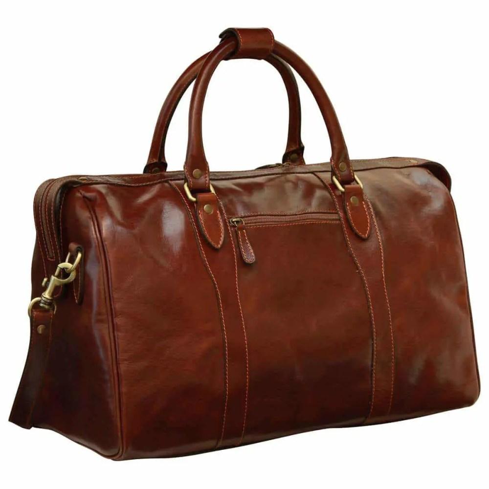 Reisetasche mit Schultergurt braun