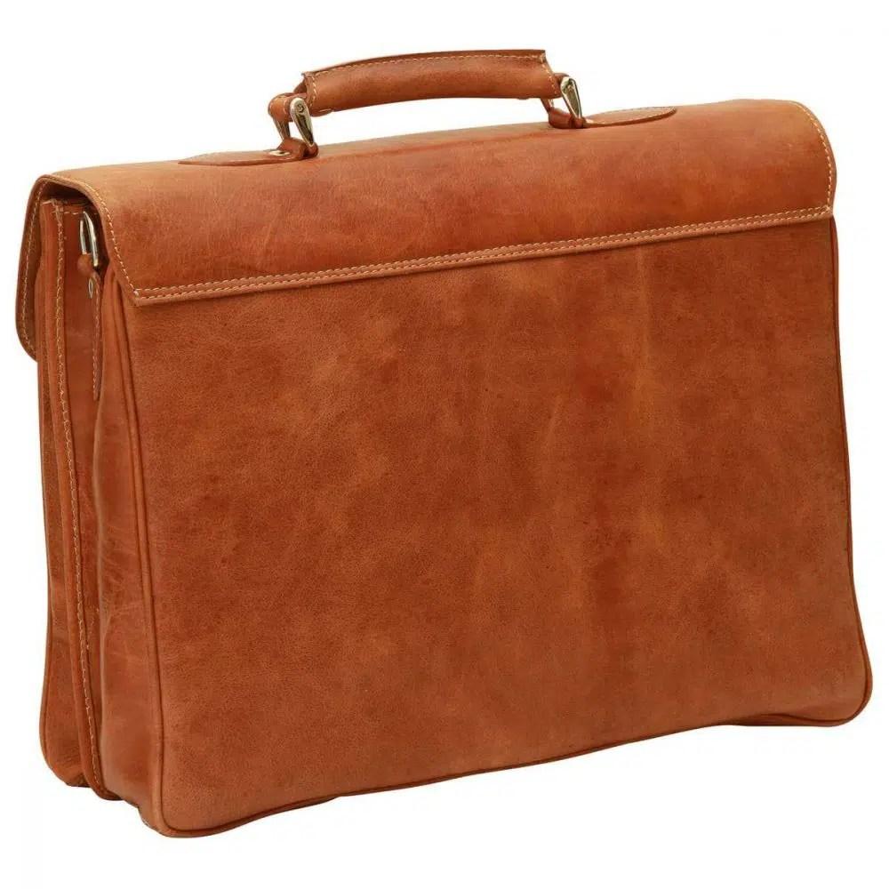 Rückseite Laptoptasche 16 Zoll mit Schulterriemen Kolonial