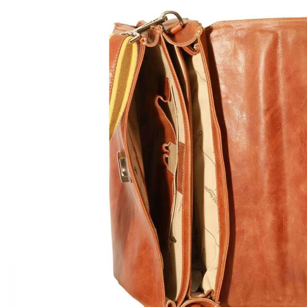 Liegende Laptoptasche 16 Zoll mit Schulterriemen Kolonial