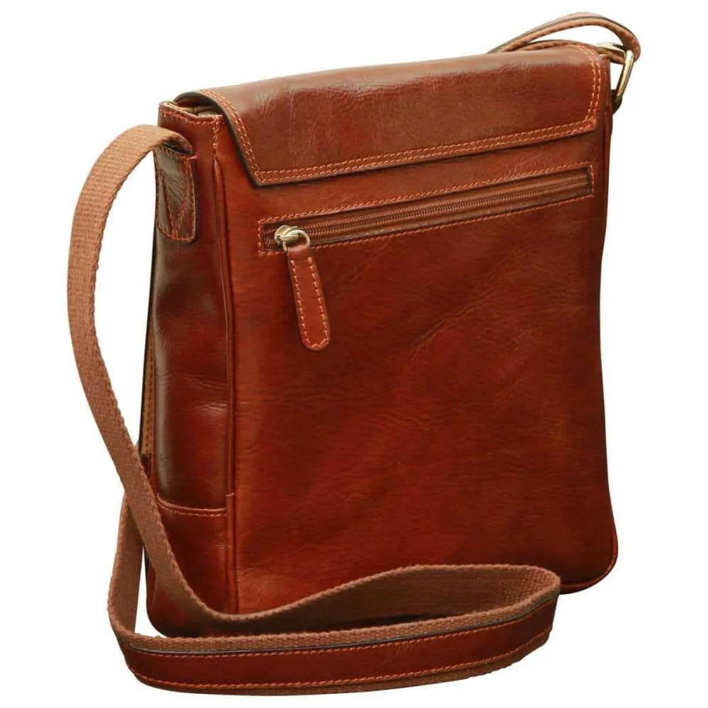 Rückseite IPad Tasche aus Leder Braun