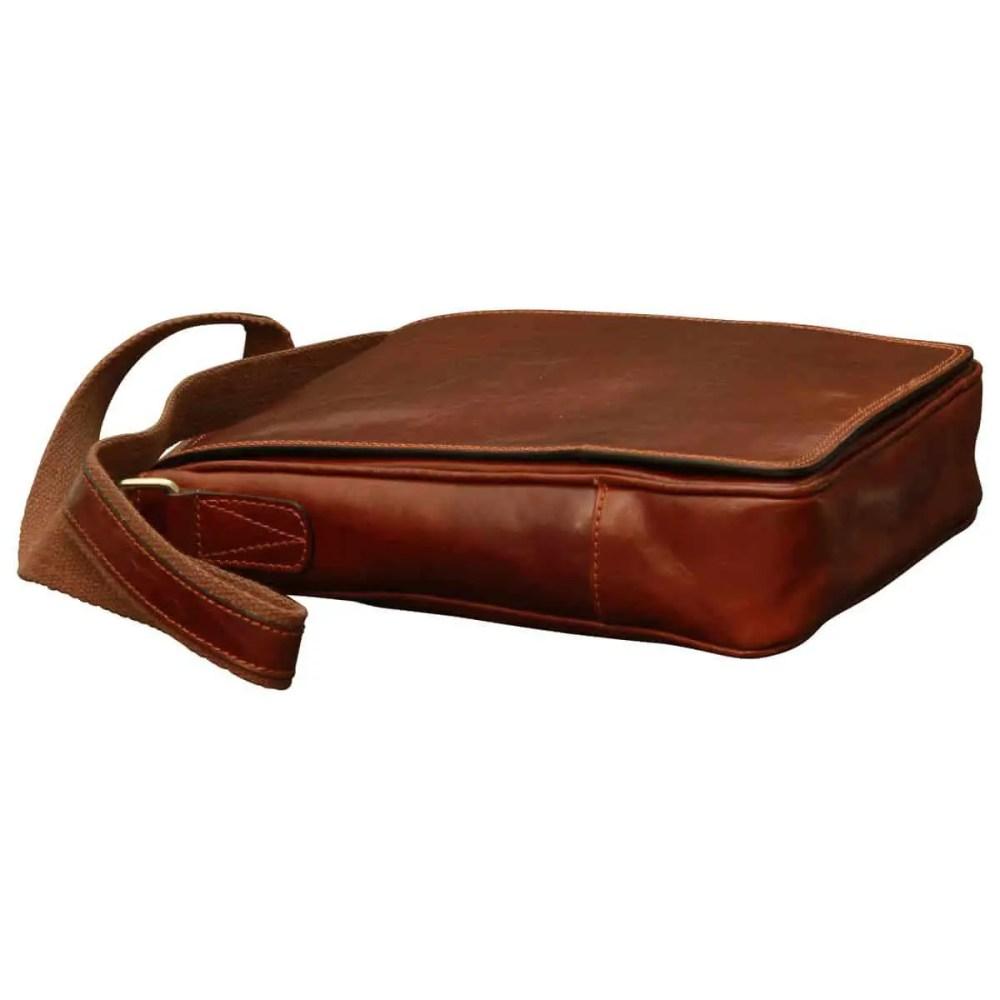 Liegende IPad Tasche aus Leder Braun