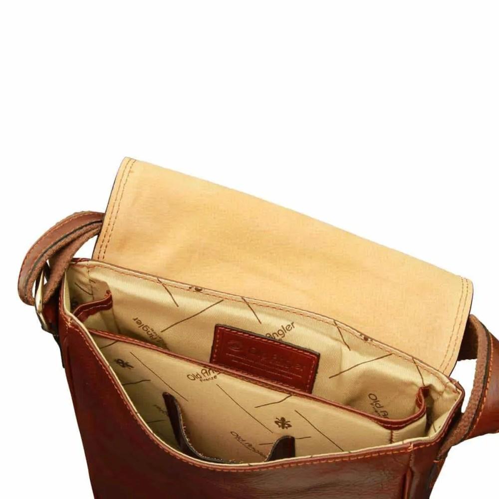 Offene IPad Tasche aus Leder Braun