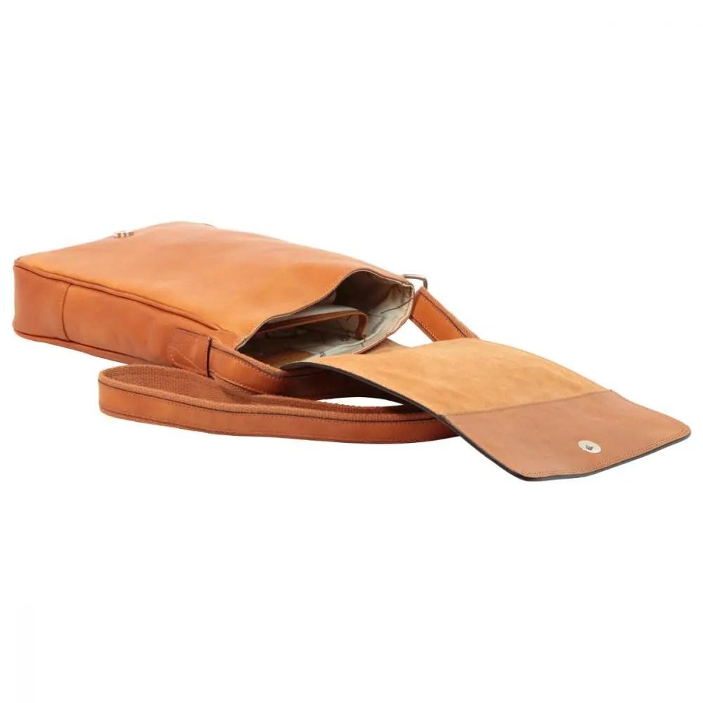 Liegende IPad Tasche aus Leder Kolonial
