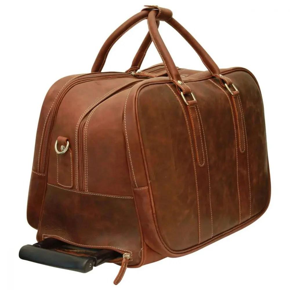 Quer stehende Reisetasche New World Collection Chestnut