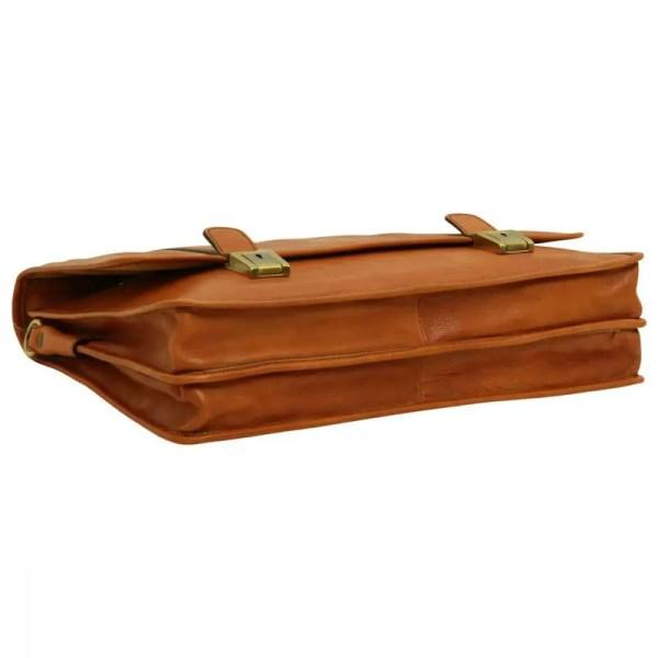 Liegende Aktentasche weiches Leder Gold