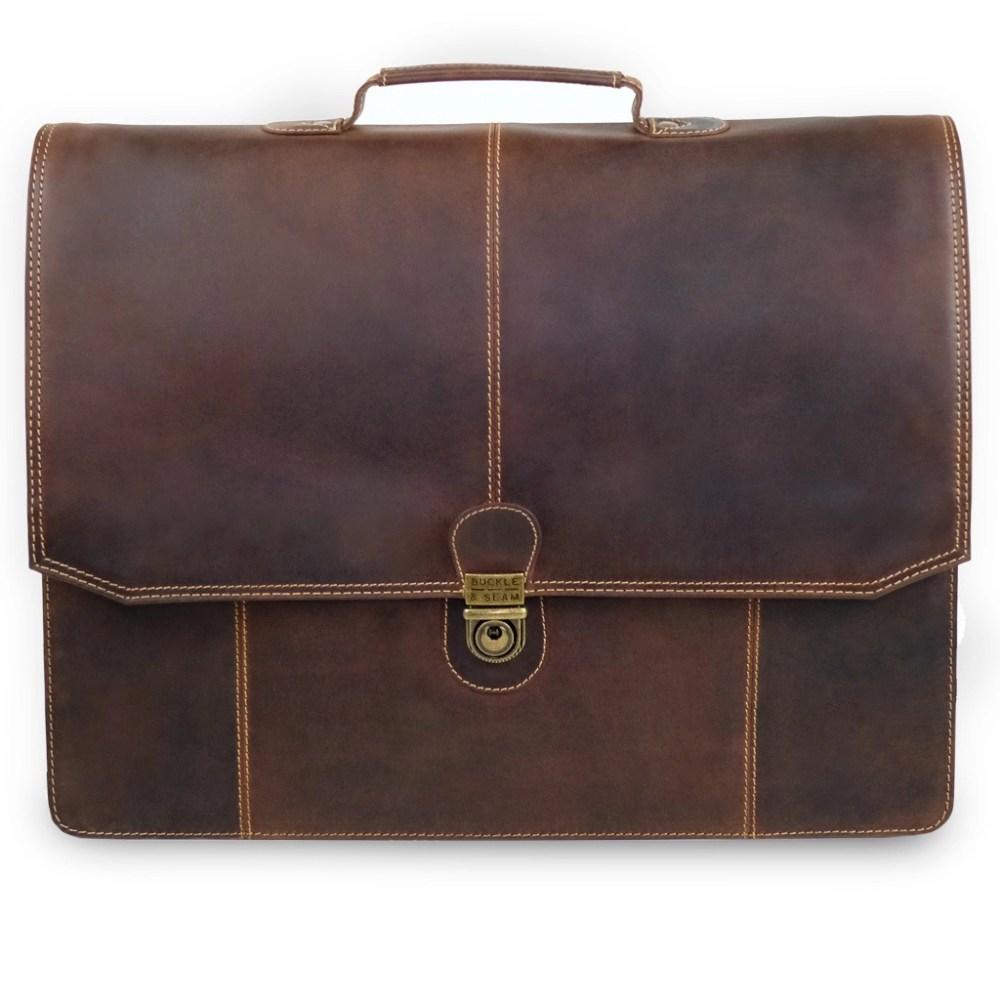 Front Leder Briefcase Sierra Braun