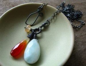 Fire and Ice Necklace by WingbySea