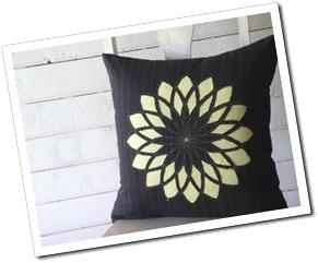Charcoal Spiral Cushion