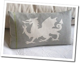 Handpainted Dragon Cushion