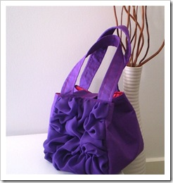 Purple Ruffels Pouch Handbag by Redeem Designs on Etsy
